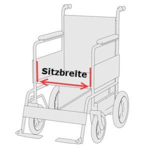 Rollstuhlbreite - Sitzbreite bestimmen