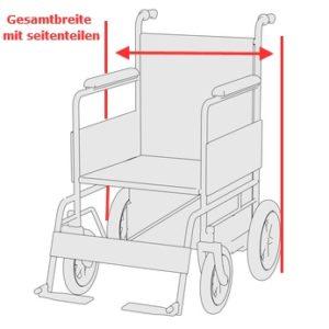 Rollstuhlbreite bestimmen