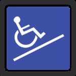 Eine Rollstuhlrampe um die Behindertengerechte Wohnung zu erreichen